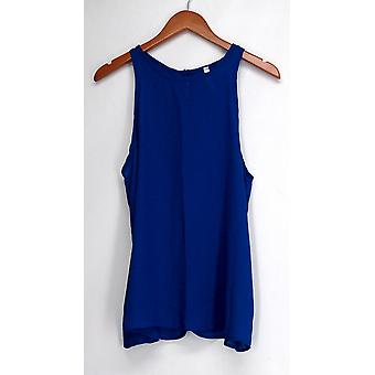 Lyss Loo Top At First Crush Key Hole Back Blue Womens