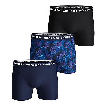Bjorn Borg Uomini's Boxer Shorts 3 Pack - Sammy BB Flower