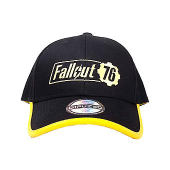 Fallout Vault 76 Baseball Cap Yellow Logo new Official Black Snapback