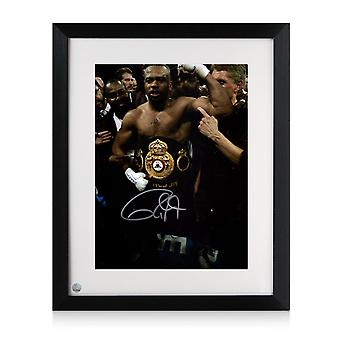 Roy Jones Jr. signiert Eboxing Foto: Heavyweight Champion. Gerahmt