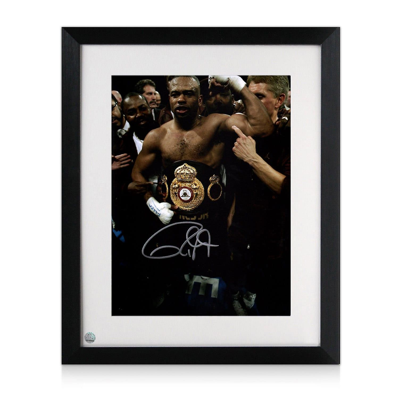 Roy Jones Jr Signed Boxing Photo: Heavyweight Champion. Framed