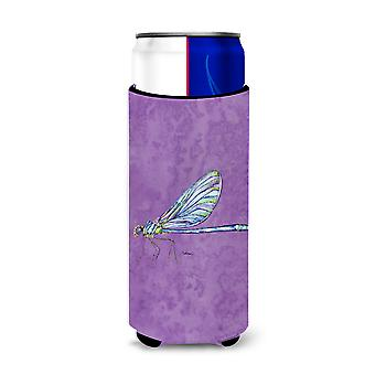 Dragonfly on Purple Ultra Beverage Insulators for slim cans 8865MUK