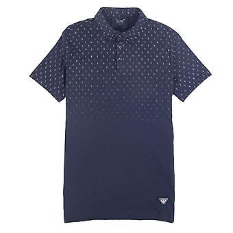 Armani Jeans Lettera Logo Copertina corta Polo Camicia Navy