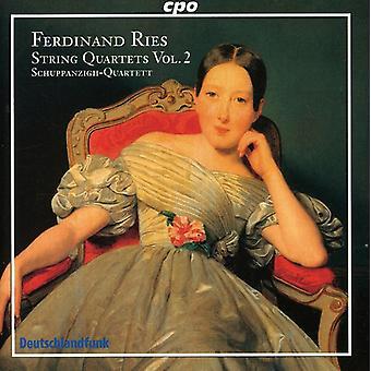 F. Ries - Ferdinand Ries: quatuors à cordes Vol. 2 [CD] USA import