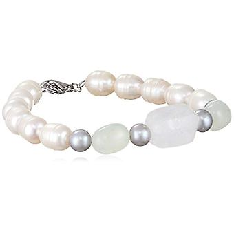 Sakura Pearl ? Silver women's bracelet 925 rodent quartz cultivated pearl of white freshwater ? Am 312 - silver - cod. AM 312