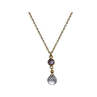 Gemshine Necklace with Donna vermeil pendant - Caa