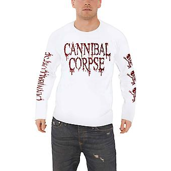 Cannibal Corpse T Shirt Butchered At Birth new Official Mens White Long Sleeve