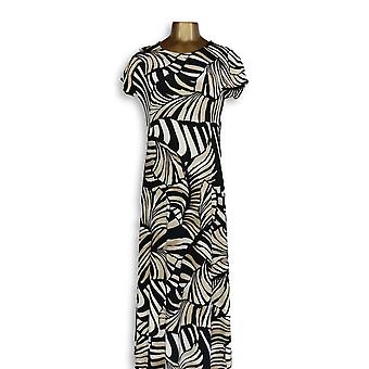 Attitudes By Renee Dress Jersey Stretch Maxi Animal Print Beige A347505