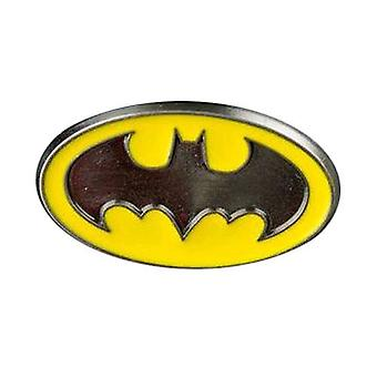 Pin de solapa de esmalte de color logotipo de Batman