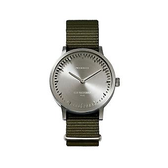 Leff Amsterdam LT74131 Green Nato T32 Steel Tube Wristwatch