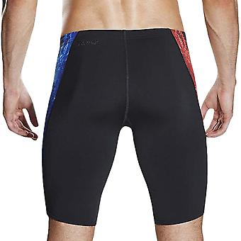 Speedo Mens Energy Blast Placement Digitale V Nuoto Piscina Jammer - Nero