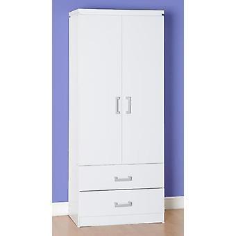Charles 2 Tür 2 Schublade Kleiderschrank - Weiß