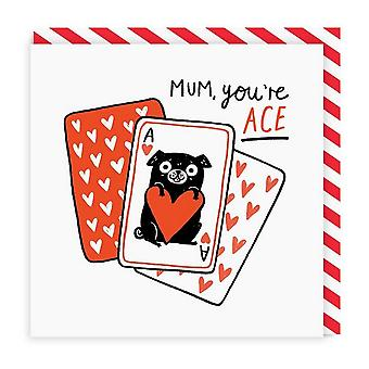 oh Deer Mum Youre Ace Square Carte de voeux