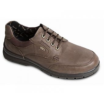 Padders Terrain Mens Leather Wide (g/h) Shoes Taupe
