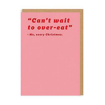 Ohh Deer Can't Wait To Over Eat Christmas Card