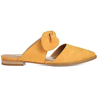 Brinley Co. Womens Bow Accent Slip-on Flat, Mustard 9 Regular US