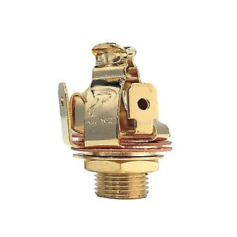"""Pure Tone Multi-contact 1/4"""" Output Jack Stereo, Gold Finish"""