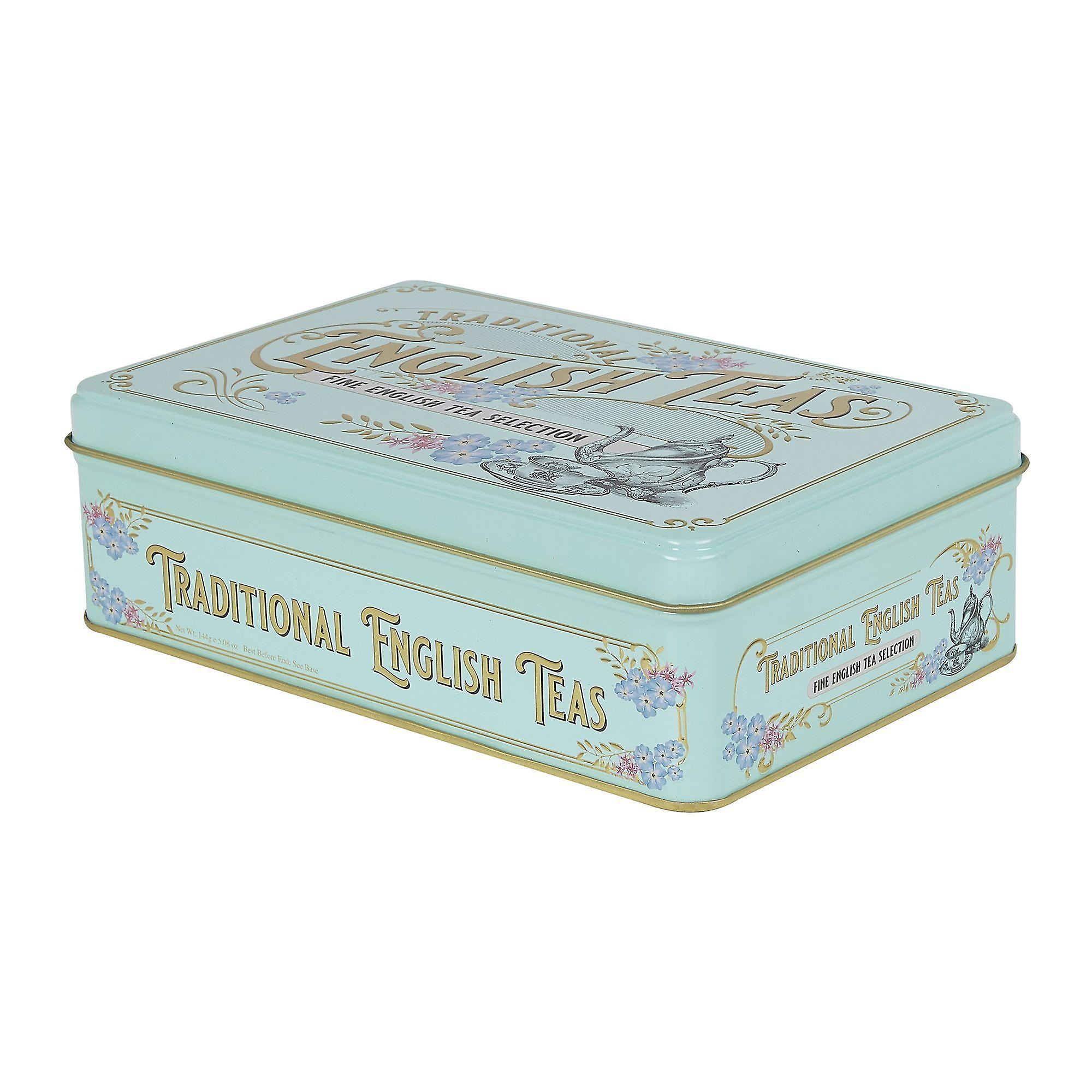 Vintage victorian english tea tin 72 teabags