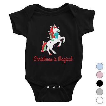Christmas Magical Unicorn Cute Baby Bodysuit X-mas Present