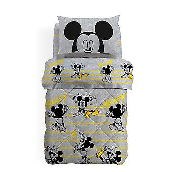 Quilt Bed Square and Half Mickey Mouse Relax Caleffi