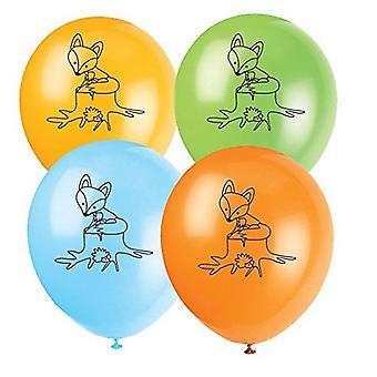 Fox Fox Party ballonger 8 stycken Schlauer Fox Party barnens födelsedag