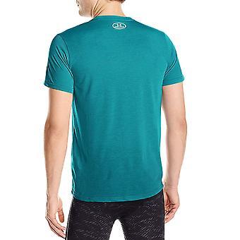Under Armour Mens Threadborne Streaker Short Sleeve Running Gym T-Shirt Green XL