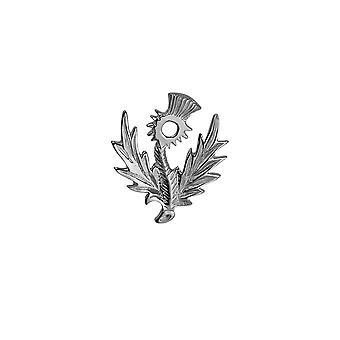 Sølv 30x34mm skotsk tidsel broche