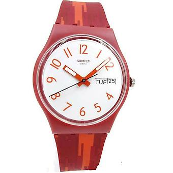 Swatch RED FLAME Ladies Watch GR711