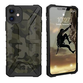 Backcover stötsäker Army TPU + PC för Apple iPhone 11 (6,1) grön