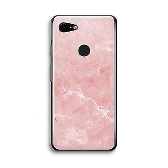Google Pixel 3 Transparent Case (Soft) - Pink Marble
