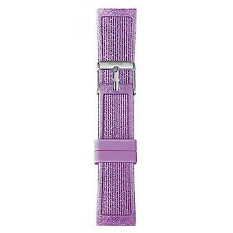 Watch I Am The Watch IAM-216 - Violet Glitter Steel Loop Bracelet / Medium 18 mm