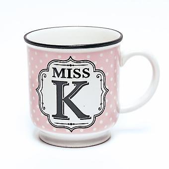 Histoire et Heraldry Alphabet Mug - Miss K