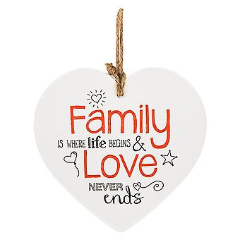 Shudehill Giftware From The Heart Plaque - Family