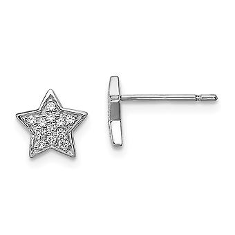 925 Sterling Silver CZ Cubic Zirconia Simulated Diamond Star Post Earrings Jewelry Gifts for Women