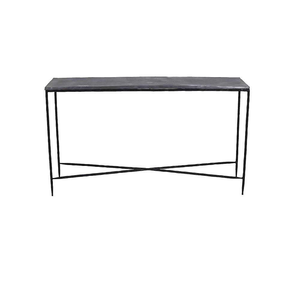 Table latérale légère et vivante 140x40x80cm Locobe Plomb antique