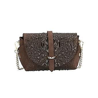 She ccacca Bags CTM Bag Pochette women's coconut print with real leather metallic shoulder strap made in Italy - 18x11x8 Cm