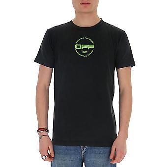 Off-white Omaa027r201850131088 Men's Black Cotton T-shirt