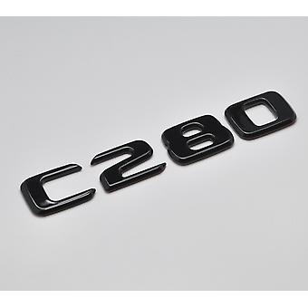 Gloss Black C280 Flat Mercedes Benz Car Model Rear Boot Number Letter Sticker Decal Badge Emblem For C Class W202 W203 W204 W205 AMG