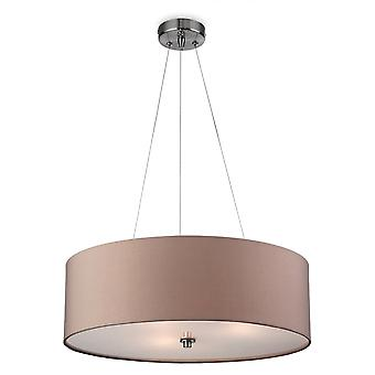 Firstlight Cyclic Modern Taupe Drum Shade Suspended Ceiling Light Fitting