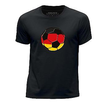 STUFF4 Boy's Round Neck T-Shirt/Germany/German Football/Black