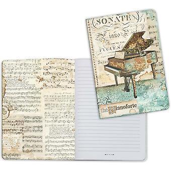 Stamperia Notebook A5 Muziek piano