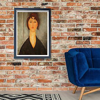 Amedeo Modigliani - Portrait of a Young Woman 1918 Poster Print Giclee