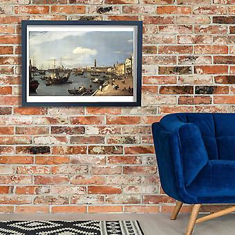 Canaletto - The Riva Degli Schiavoni Looking West Poster Print Giclee