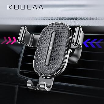 Kuulaa gravity linkage automatic lock air vent car phone holder for 4.0-6.5 inch smart phone for iphone xiaomi