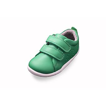 Bobux step up grass court green trainer shoes