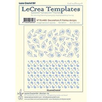 LeCrea - Stencil decorations 9. Paisley designs 95.4483 75x140mm