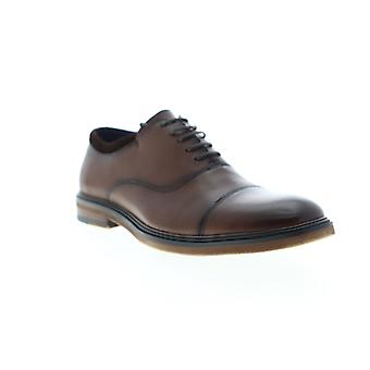 Zanzara Hans  Mens Brown Leather Casual Lace Up Oxfords Shoes