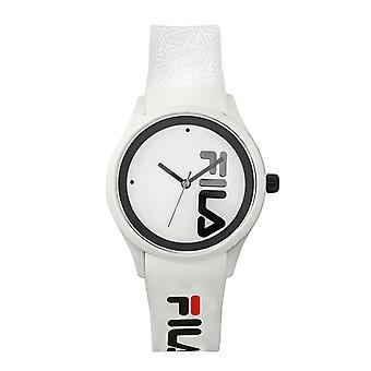 Fila Watch 38-129-210 - Kwarc MIYOTA Białe plastikowe pudełko Biała tarcza Biała bransoletka silikonowa Mężczyźni/Kobiety