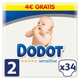 Dodot Sensitive Diaper Size 2 with 34 Units (Baby & Toddler , Diapering , Diapers)