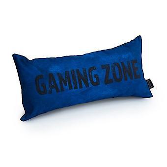 Slogan game over gaming zone - Azul | Almofada para Jogos | Migalhas de espuma preenchidas | Resistente à água | Cama e Sofá | Decoração de casa
